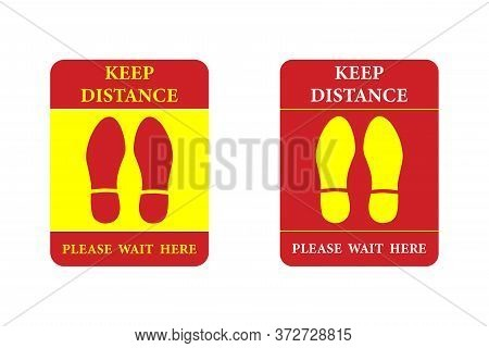 Social Distribution Or Safe Distancing Floor Sticker For Stores And Supermarkets To Help Reduce The