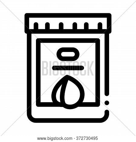 Nut Butter Jar Icon Vector. Nut Butter Jar Sign. Isolated Contour Symbol Illustration