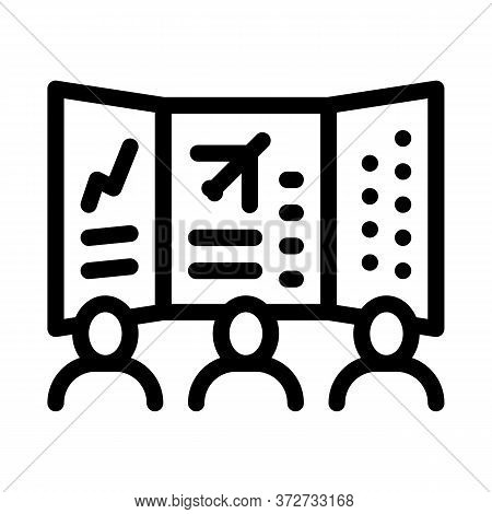 Air Navigation Dispatcher Display Icon Vector. Air Navigation Dispatcher Display Sign. Isolated Cont