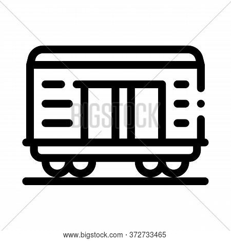 Freight Wagon Icon Vector. Freight Wagon Sign. Isolated Contour Symbol Illustration