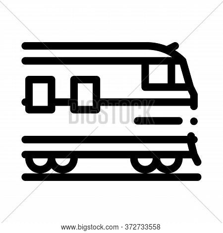 Suburban Electric Train Icon Vector. Suburban Electric Train Sign. Isolated Contour Symbol Illustrat