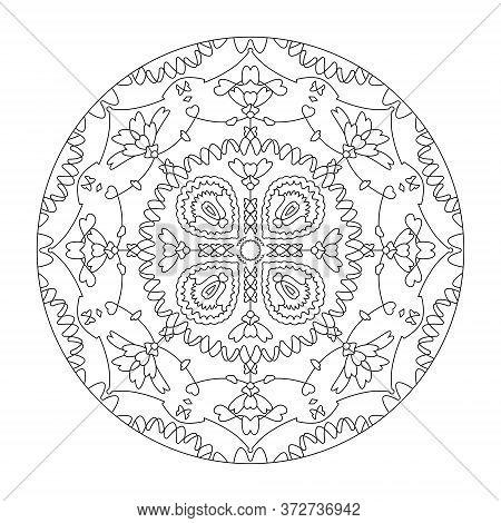 Mandala Coloring Page. Art Therapy. Anti-stress Coloring Page.
