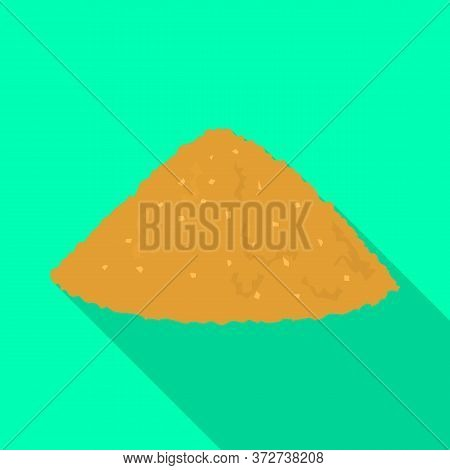 Isolated Object Of Heap And Sugar Icon. Graphic Of Heap And Cane Vector Icon For Stock.