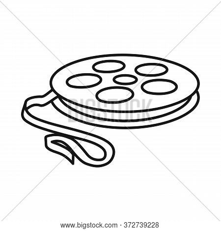 Vector Design Of Reel And Movie Symbol. Graphic Of Reel And Clapper Vector Icon For Stock.