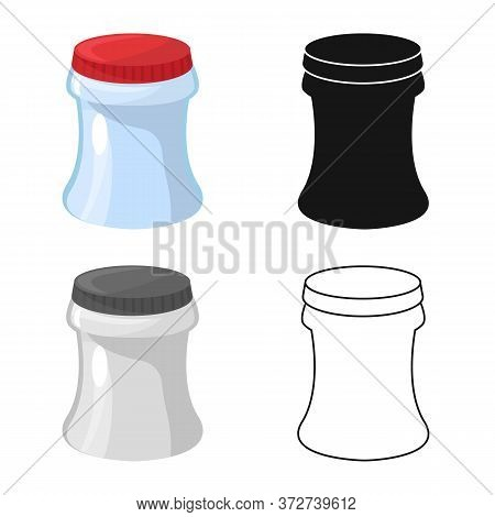 Isolated Object Of Container And Soda Icon. Set Of Container And Nonalcoholic Vector Icon For Stock.