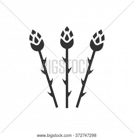 Asparagus Black Glyph Icon. Healthy Food. Vegan Natural Bio Vegetable. Pictogram For Web Page, Mobil