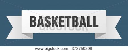 Basketball Ribbon. Basketball Isolated Sign. Basketball Banner