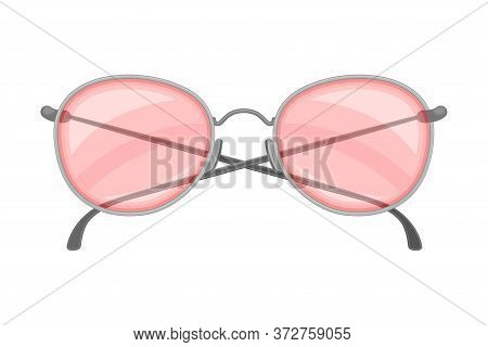 Sunglasses As Protective Eyewear For Wearing In Summertime Vector Illustration