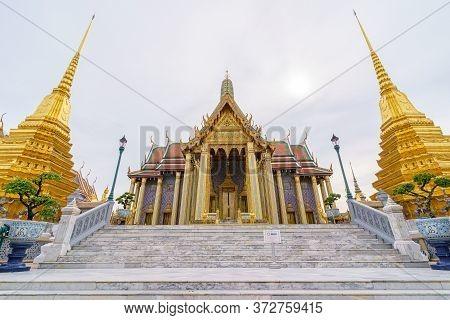 Bangkok/thailand-june 14: Wat Phra Kaew, Wat Phra Si Rattana Satsadaram Or Temple Of The Emerald Bud