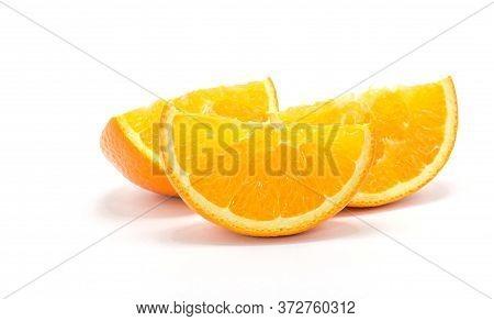 Orange Slice, Isolated On White A Background