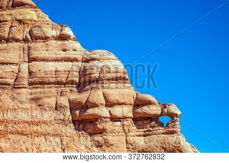 Arizona, Utah. Paria Canyon-Vermilion Cliffs Wilderness Area. The travel to the USA. Grandiose mountains of red sandstone. The concept of active, extreme and photo tourism