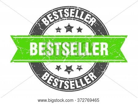 Bestseller Round Stamp With Green Ribbon. Bestseller