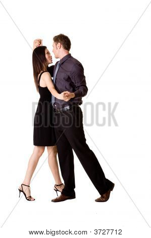 Couple Dancing Happily