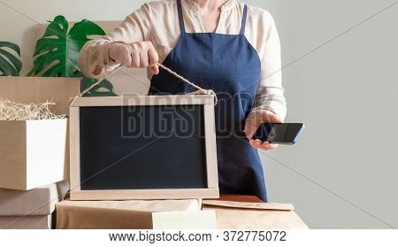 Worker Delivery Service Donation Packing Bag Box Apron Packer Hand Post Office