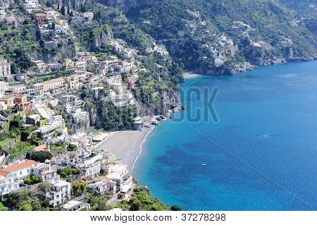 The Small Village Of Positano. Amalfi Coast, Italy.