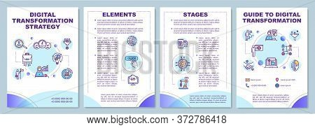 Digital Transformation Strategy Brochure Template. Improve Business. Flyer, Booklet, Leaflet Print,