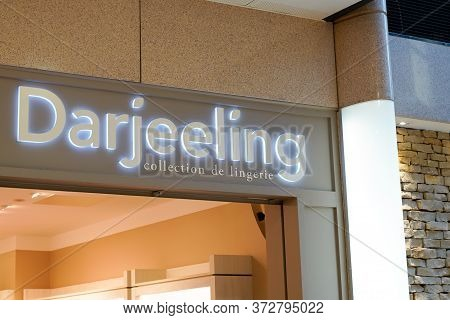 Bordeaux , Aquitaine / France - 01 22 2020 : Darjeeling Logo Sign Shop Lingerie Women Collection Sto