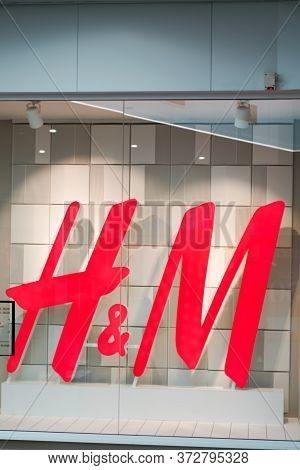 Bordeaux , Aquitaine / France - 09 27 2019 : H&m Store H M Swedish Multinational Clothing Retail Com