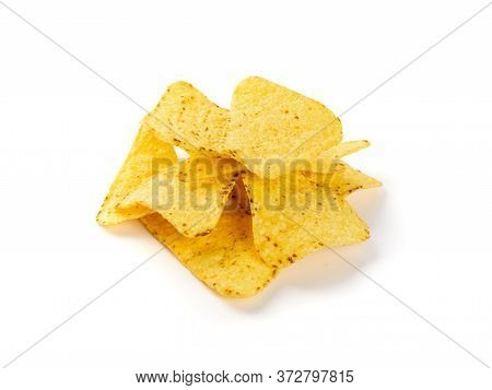 Corn Chips, Nachos Chips, Maize Snack, Corn Crisps Or Totopos