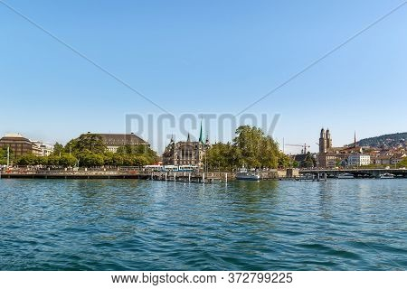 View Of Zurich From Zurich Lake, Switzerland