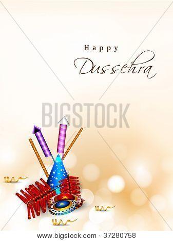 Dussehra festival background. EPS 10. poster