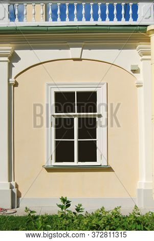 Simple Window In Palace Wall Decorated With Balustrade