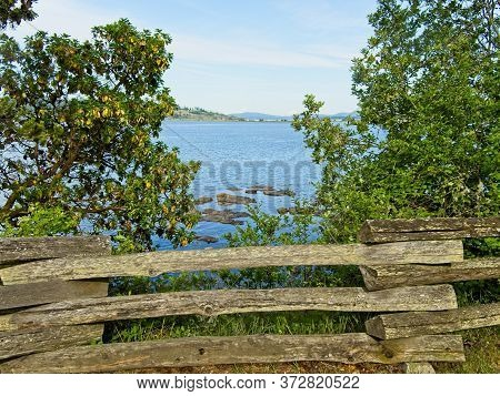 Park Overlooking The Ocean In Saanichton On Vancouver Island, Bc, Canada