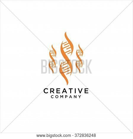 Dna Logo Icon Vector Isolated, Vector Logo Illustration Medical Dna Gradient Colorful Style, Dna Hel