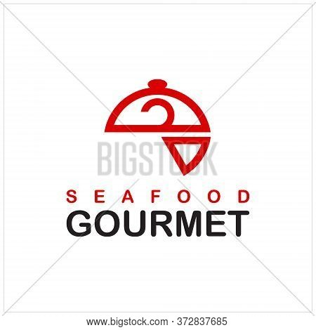 Culinary Logo Fun Illustration Of Seafood Gourmet Vector For Fish Design Template Or Food Icon Idea