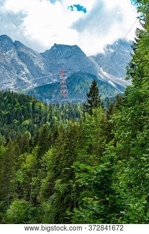 Amazing Nature Of The German Alps In Bavaria. High Quality Photo