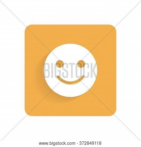 Smiley. Flat Icon, Object Isolated On White Background. Illustration For Design.