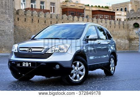 Metallic Honda Cr-v, 2.4 L, 2008 . Popular Jeep Car Parked Outdoors . Motor Car Honda Cr-v In The Ci