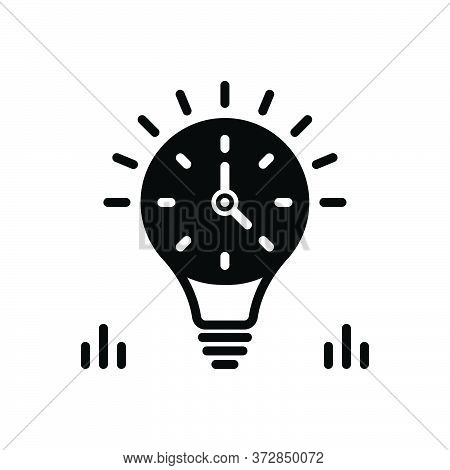 Black Solid Icon For Enduring Everlasting Perennial Time Management