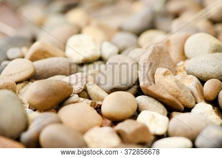 Sea Pebbles Texture. Background Of Pebbles. Abstract Sea Pebbles Texture. High Resolution Photo. Sel