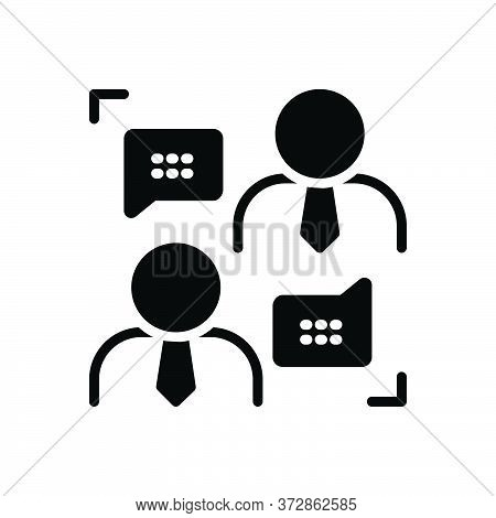 Black Solid Icon For Frankness Forthrightness Candidness Communication