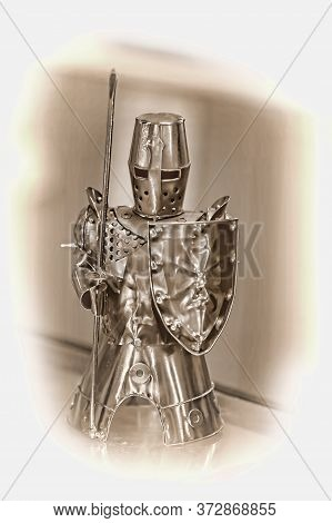 Medieval Armor, Sculpture, Statuette