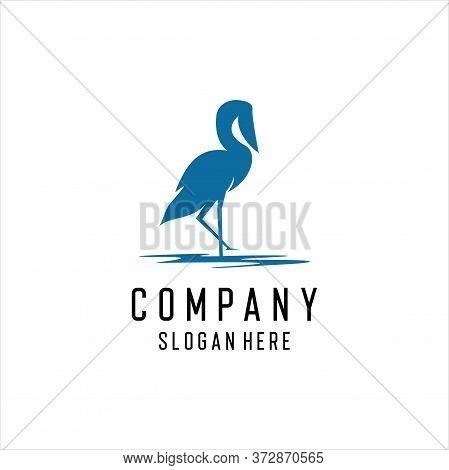 Heron Logo Icon Template Design In Vector Illustration, , Animal Consult Logo Template Vector, Anima