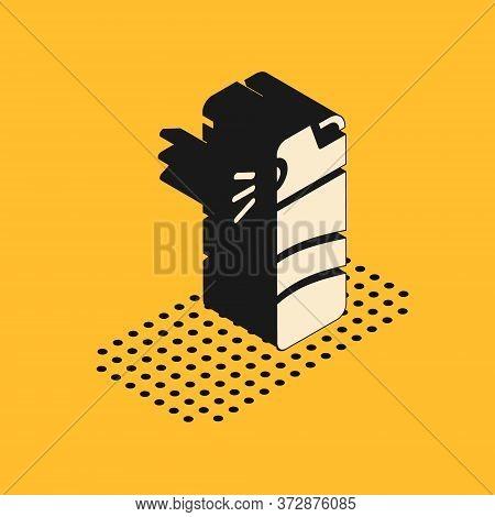 Isometric Pepper Spray Icon Isolated On Yellow Background. Oc Gas. Capsicum Self Defense Aerosol. Ve
