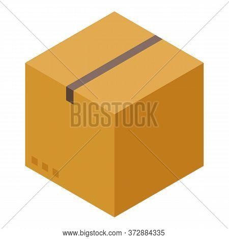 Tax Parcel Box Icon. Isometric Of Tax Parcel Box Vector Icon For Web Design Isolated On White Backgr