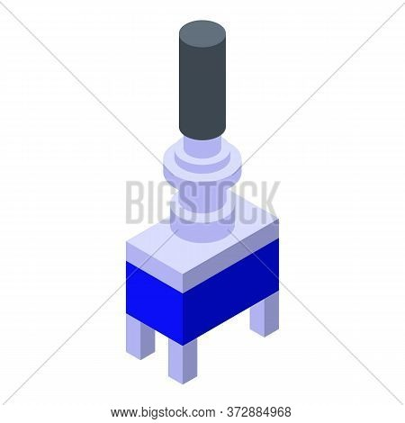 Radio Switch Piece Icon. Isometric Of Radio Switch Piece Vector Icon For Web Design Isolated On Whit
