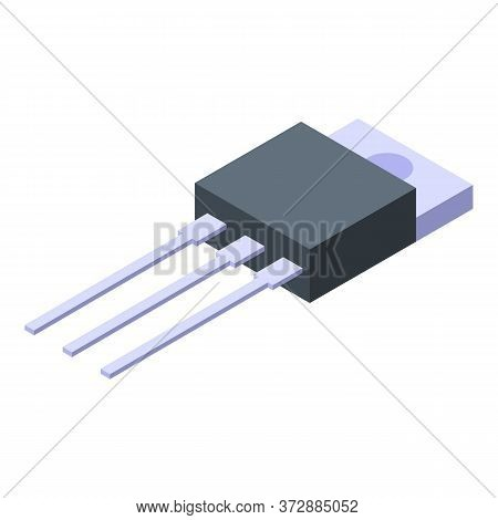 Radio Transistor Icon. Isometric Of Radio Transistor Vector Icon For Web Design Isolated On White Ba