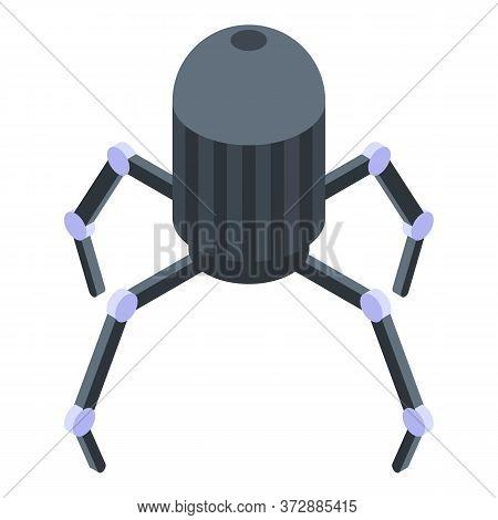 Nanotechnology Spider Icon. Isometric Of Nanotechnology Spider Vector Icon For Web Design Isolated O