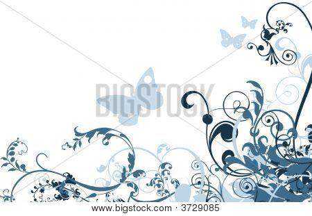 Congratulation Card Butterfly Blue