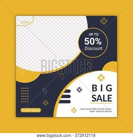 Big Sale Social Media Post Template Design.promotional Web Banner For Social Media.editable Social M