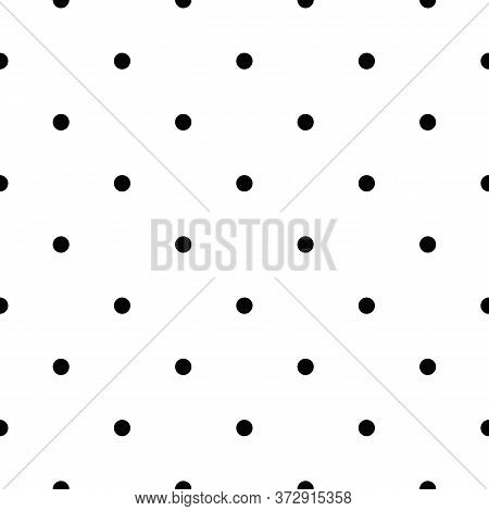 Seamless Pattern. Circles Ornament. Dots Wallpaper. Polka Dot Motif. Vector Artwork. Geometric Backd