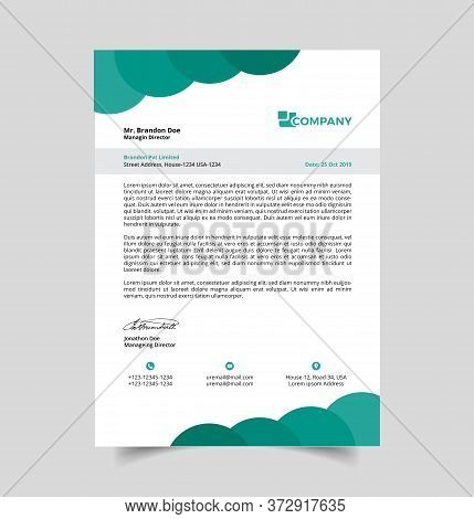 Professional Letterhead Template. Best Quality And Creative Template. All Main Elements Are 100% Edi