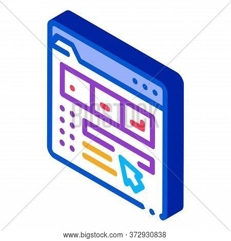Maker Information Folder Icon Vector. Isometric Maker Information Folder Sign. Color Isolated Symbol