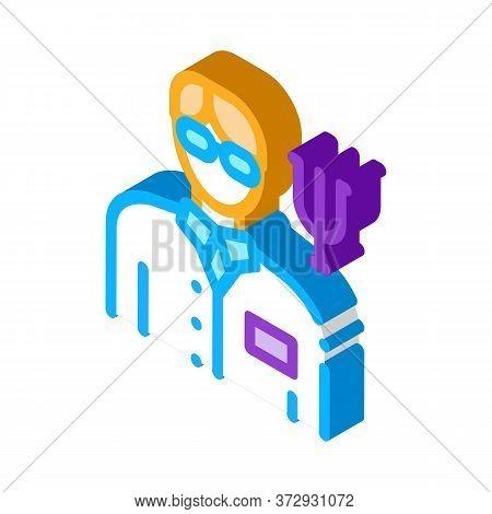 Scientific Medical Representative Of Psychology Icon Vector. Isometric Scientific Medical Representa
