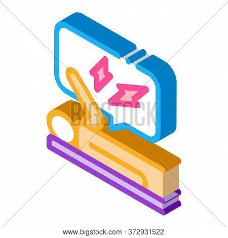 Emotionally Stressed Person Icon Vector. Isometric Emotionally Stressed Person Sign. Color Isolated