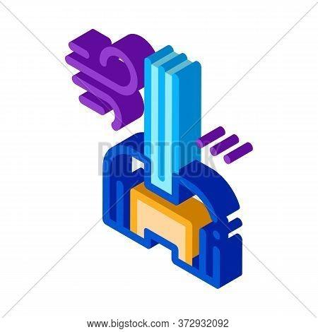 Windshield Window Glass Icon Vector. Isometric Windshield Window Glass Sign. Color Isolated Symbol I